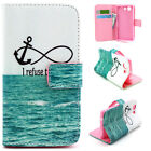 Refuse Sink Luxury Wallet Card Leather Case Cover For Samsung Sony Alcatel LG YH