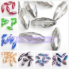 10pcs 8x18mm Oval Faceted Crystal Glass Charm Loose Beads DIY Jewelry Finding