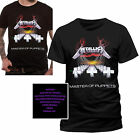 Adults Licensed Metallica T Shirt Official Master Of Puppets Rock Band Top Tee