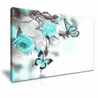 Butterfly Flower Canvas Framed Print 5 ~ More Size