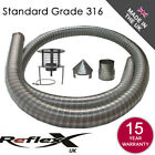 Flexible Flue Chimney Liner Pack Kit Multifuel Stove Class1 Steel Hanging Cowl