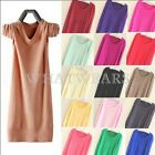 Womens Fashion Candy Color Loose Long Pullover Jumper Sweater Knitwear Tops FKS