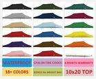 Ez Pop Up Canopy Replacement Top For 10 X 20 Caravan Canopy Tent 100% waterproof