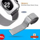 Stainless Steel Mesh Milanese Watch Band Strap Buckle For Apple Watch Sport UK