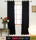 RETURNED ITEM! Nickel Grommet Top Blackout Curtain 108 Inch Length Pair,