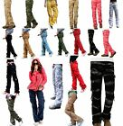 Eskaay Womens 100% Cotton Casual Fit Trousers Camouflage Army Military Pants