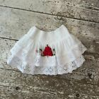 SALE Girls Childrens Toddler Summer Party Cotton Flower Tiered Skirt