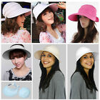 Kyпить Summer Beach Women's Wide Large Brim Sun Canvas Hat Visor Removable Cap на еВаy.соm