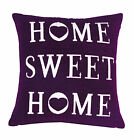 LUXURY CHENILLE COTTON HOME SWEET HOME DECORATIVE SOFA CUSHION COVERS~17