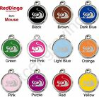 Red Dingo MOUSE Engraved Dog ID Pet Tag / Charm - Lifetime Guarantee