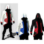 Top Men Cosplay Costume Conner Man's Coat Jacket Hoodie Cap Cloak Long Clothes