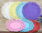 "50/100 Colorful 6.5""Inch Flower Paper Lace Doilies, Craft Doilies, Wedding Cards"