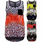 Womens Floral Leopard Semi Sheer High Low Baggy Oversized Zip Back Blouse Top