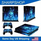 Skin Cover Decal Wrap for Sony PlayStation 4 PS4 Controller Sticker Blue Demon