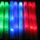 24X Light-Up Foam Sticks LED Flashing Rave Cheer Tube Glow Baton Wands Fr  Party