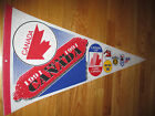 "1991 TEAM CANADA HOCKEY 30"" Pennant Wayne Gretzky BILL RANFORD MVP"