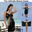 Saress MIDNIGHT VANILLA Beachdress Coverup Swimwear Bikini Wrap Sarong Dress
