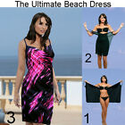 Saress MIDNIGHT PINK Beachdress CoverupSwimwear Bikini Wrap Sarong Dress