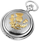 Celtic Thistle Pocket Watch, Woodford,, Quality Mens Gift, Boxed New