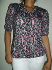 NEW WOMAN'S LADIES SUPER QUALITY LIGHTWEIGHT FLORAL SUMMER TOP   EX-DUNNES