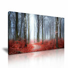 AUTUMN FOREST Red Leaves Landscape Canvas Wall Art Picture Print ~ More Size