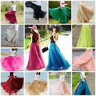 Retro Womens Ladies Chiffon Dress Long Maxi Full Skirt Elastic Waist Dress