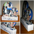 Unique Freestanding Personalised Heart Photo Collage - Wedding Anniversary Gift