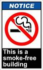 This Is A Smoke-Free Building Notice OSHA / ANSI Aluminum METAL Sign