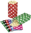 100 SPOTTY POLKA DOT PICK AND N MIX PARTY BAGS - CANDY SWEET BUFFET POPCORN BAG