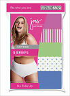 5 Pair Just My Size JMS Womens Plus Cotton Brief Panties Assorted SIZE 14
