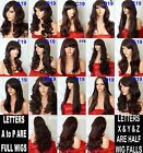 BLACK PLUM Wig Natural Long Curly Straight Wavy Synthetic Wig Women Fashion UK