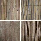 GARDEN DIVIDER SCREENING BORDER BAMBOO SLAT WILLOW REED BRUSHWOOD FENCING ROLLS