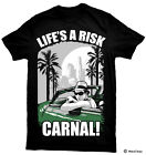 "Blood In Blood Out ""Life's A Risk Carnal"" T-Shirt"