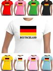 Deutschland T Shirt Ladies Top German Flag Football Motorsport Tennis Rugby Fans