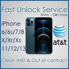 PREMIUM AT&T ATT FACTORY UNLOCK SERVICE CODE FOR IPHONE Xs Xr X 8 7 6s 6 5s 5 4s