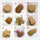 100pcs 8 Different Designs Kraft Blank Hang Craft Tags, Retro Gift Tags