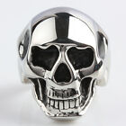 Women Men Skull Head Skeleton Stainless Steel Biker Motorcycle Finger Biker Ring