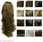 STRANDED EVELYN CURLY WEAVE HALF HEAD SYNTHETIC FLICK WIG UK ALL SHADES