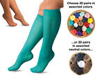 Collections Etc 20 Pairs Assorted Color Sheer Knee Highs