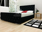 Florida Chenille Diamond Black Bed Crystals 3FT 4FT6 5FT Single Double King Size