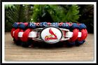 St Louis Cardinals Paracord Bracelet Officially Licensed MLB Charm