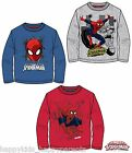 Boys MARVEL SPIDER-MAN Long Sleeve CHARACTER TOP T- Shirt 3 4 5 6 7 8 9 10 Years