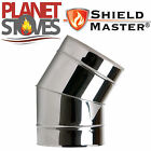 Stainless Steel Shieldmaster 30 Degree Elbow For Twin Wall Flue Pipe