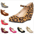 Brand New Women's Fashion Round Toe Mary Jane High Heel Wedge Pumps Shoes