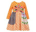 Bonnie Jean Thanksgiving Turkey Orange Dress Girl 2T-4T_W25544-DL_ORA NWT