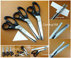 3pc StainlessSteel Fabric Leather Pinking Scallop Pattern Shears Scissor 3/5/7mm