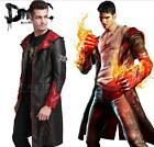 New DMC Devil May Cry 5 Dante Cosplay Costume Coat Men's Shirt Halloween Jacket