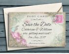SAVE THE DATE MAGNETS PERSONALISED Blue Butterfly Mini Postcard Wedding Magnets