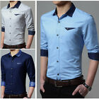T6247 New fashion Men's Luxury Casual Slim Fit Stylish Dress Shirts 4 Color