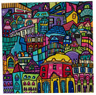 Painted to order canvas-'Cityscape graffiti street art kev munday city painting